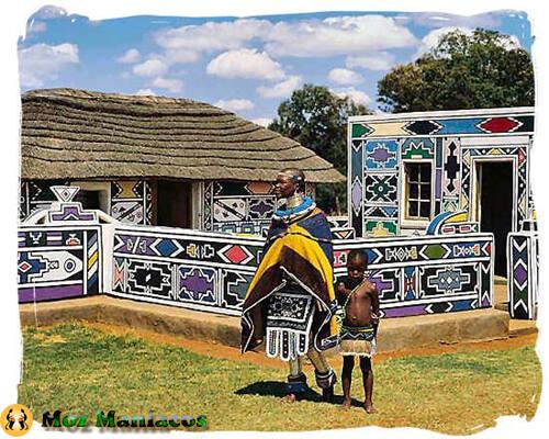 Arte e Arquitectura Africana: Casas de Ndebele