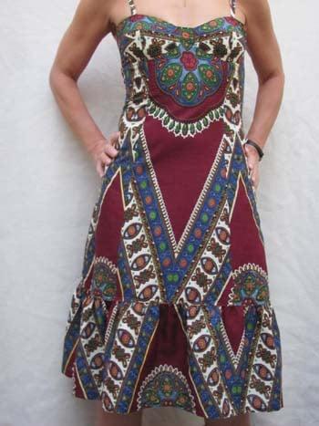 Vestido de capulana tradicional
