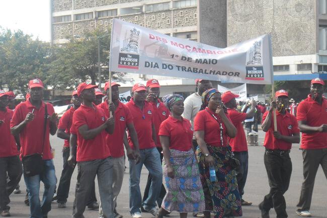 Desfilo no dia dos trabalhadores em Maputo
