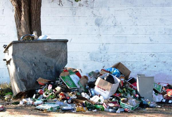 Mais Lixo na Avenida Marginal
