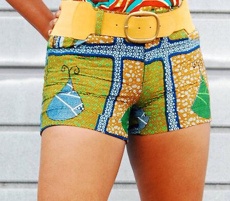 Shorts de capulana