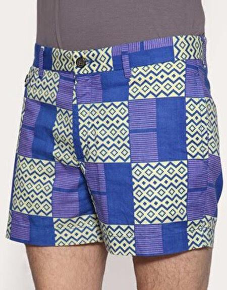 Shorts de capulana para homens - modernos