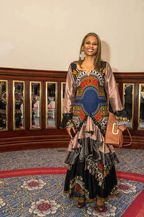 Vestido de capulana, perfeito para desfile de moda