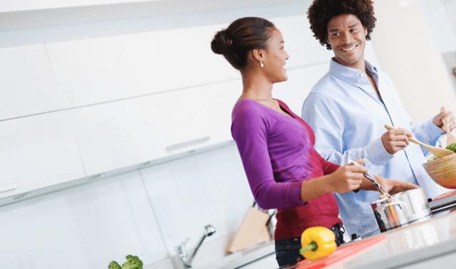 Cozinhando casal