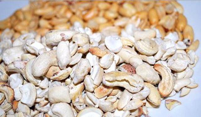Castanhas e amendoim
