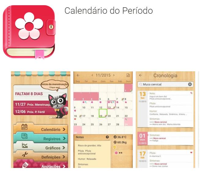 Calendário de Período - Menstrual